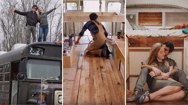 Un couple transforme un bus de prison en une incroyable habitation: