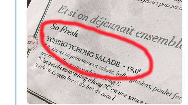 Un chef cuisinier parisien s'excuse d'avoir nommé une salade
