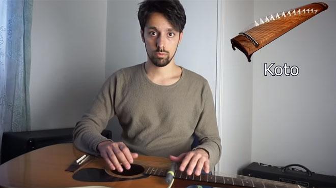 Sa démonstration de guitare ne ressemble à aucune autre: