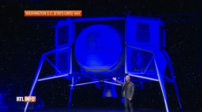 Le patron d'Amazon, Jeff Bezos, dévoile un projet d'alunisseur pour retourner sur la LUNE d'ici 2024