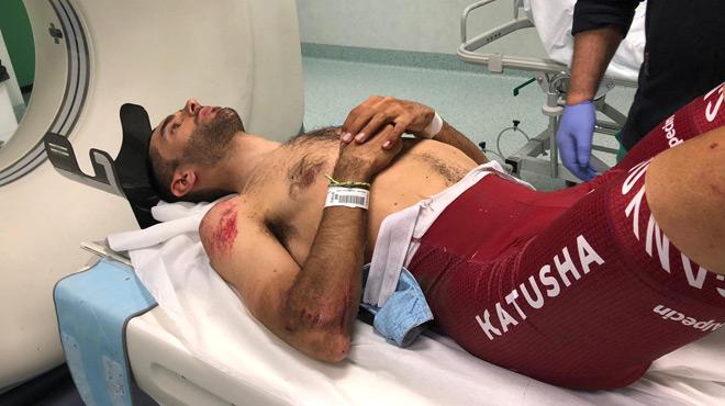 Cyclisme: Dani Navarro souffre de plusieurs fractures après sa chute au Giro (photos)