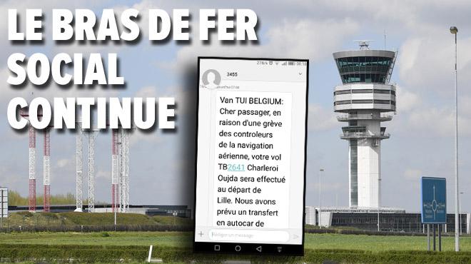 L'aéroport de Charleroi également touché par les actions chez Skeyes