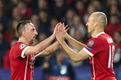Bayern: Robben et Ribéry fêtés en héros... mais sur le banc