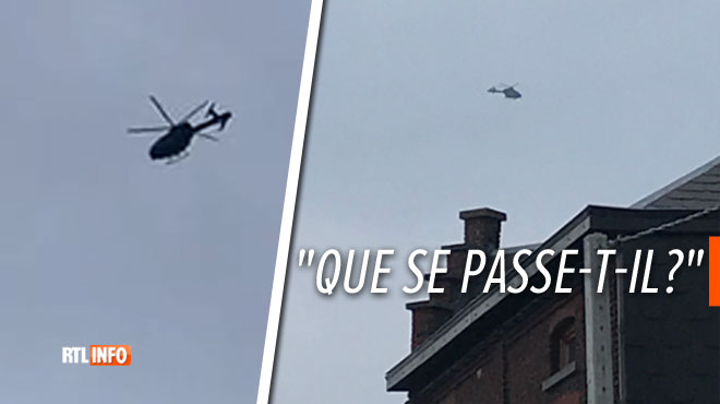 That's why a police helicopter flies through Charleroi this Friday night