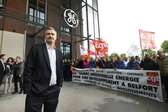 GE Belfort- mobilisation des salariés dans la crainte d'un plan social