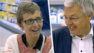 Un politique à la maison- Barbara ne peut retenir un Wouaaah en apprenant le salaire de Didier Reynders 3