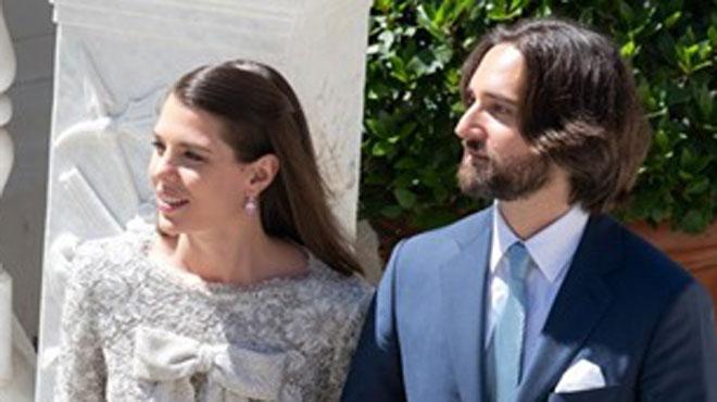 Charlotte Casiraghi a épousé Dimitri Rassam: sa robe dévoilée par le Palais