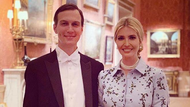 Une photo d'Ivanka Trump et de Jared Kushner ne fait pas l'unanimité: