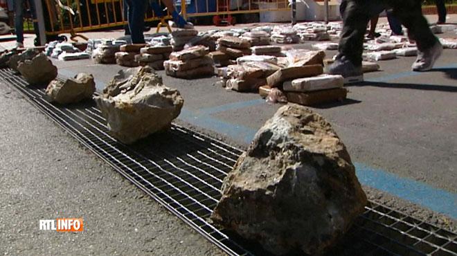Une tonne de cocaïne saisie en Espagne: la drogue était cachée de manière très astucieuse... dans de la pierre