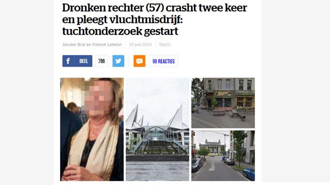 Une juge ivre est suspectée d'avoir embouti deux voitures, avant d'avoir pris la fuite à Anvers