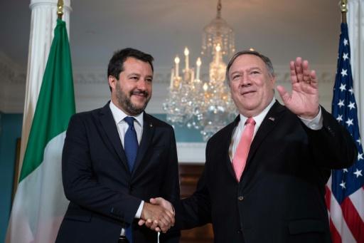 A Washington, l'Italien Salvini affiche sa proximité avec les Etats-Unis de Trump
