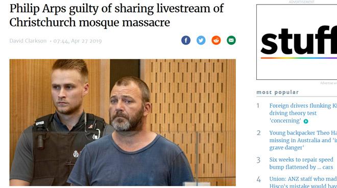 Il a partagé sur Facebook la vidéo de la tuerie en Nouvelle-Zélande: condamné à 21 mois de prison
