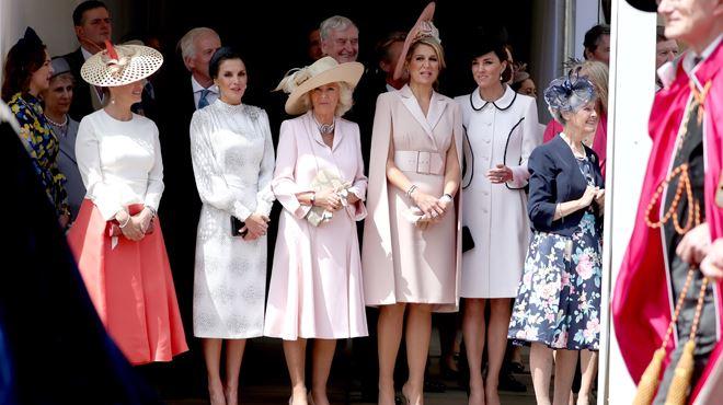 Les reines Letizia et Maxima, invitées au château de Windsor rivalisent d'élégance avec Kate (vidéo) 1