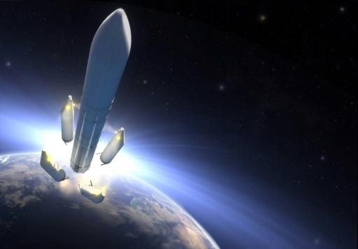 La fusée Ariane chargée d'envoyer la sonde Juice vers Jupiter