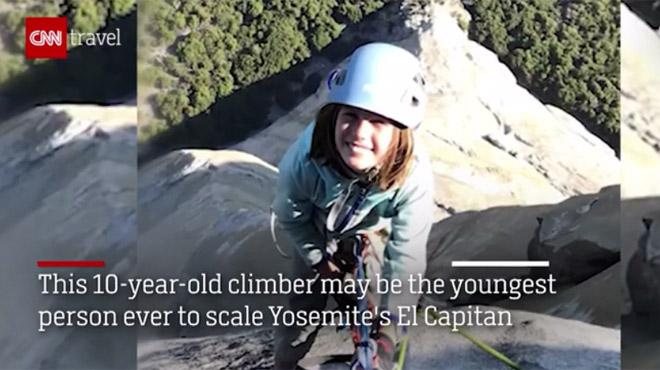 A dix ans seulement, une Américaine escalade une paroi mythique du parc Yosemite (vidéo)