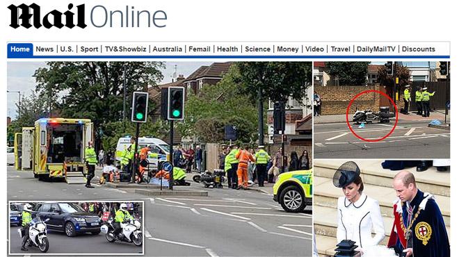 Le convoi du Prince William et Kate Middleton impliqué dans un accident: une grand-mère sérieusement blessée