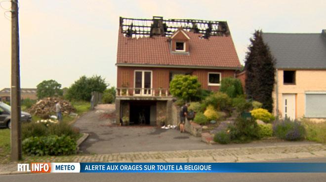 La foudre provoque un incendie dans une habitation de la région de Beloeil