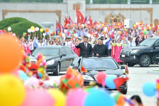 Kim célèbre l'amitié chinoise avec la visite triomphale de Xi Jinping
