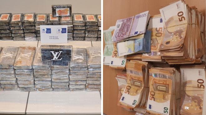 Saisie de 151 kilos de cocaïne à Bruxelles: l'ancien policier avait caché la drogue chez sa petite amie