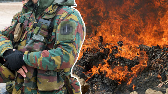 Des soldats belges ont aussi été exposés aux fumées toxiques de