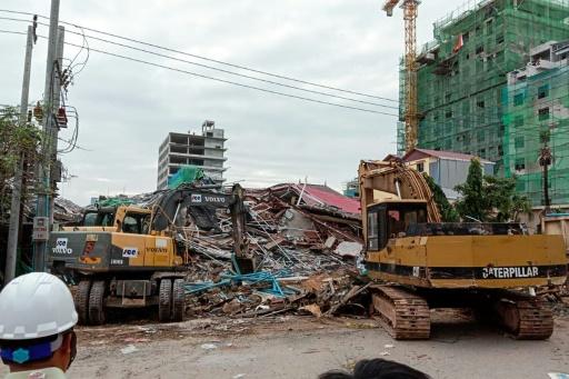 Cambodge: au moins 7 morts dans l'effondrement d'un immeuble en construction