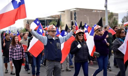 Chili: poursuite de la grève dans une mine de cuivre géante