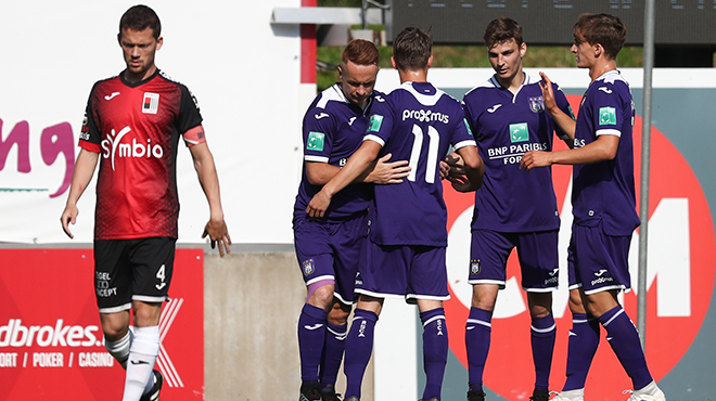 Anderlecht affrontera bien l'Ajax Amsterdam le 6 juillet