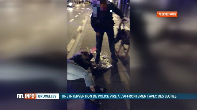 Images montrant une intervention musclée place Sainte-Catherine à Bruxelles: la police ouvre une enquête interne