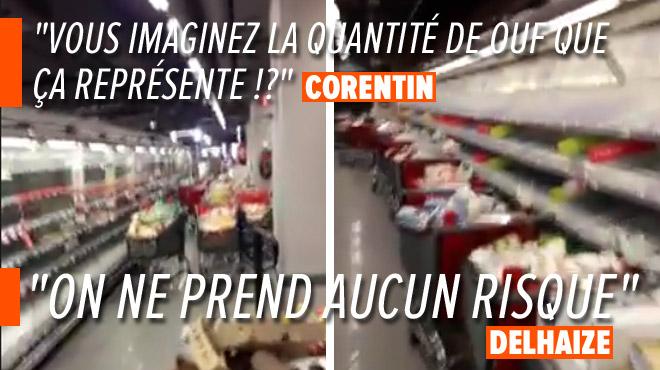 Corentin CHOQUÉ: panne des frigos, un supermarché contraint de jeter toute la nourriture
