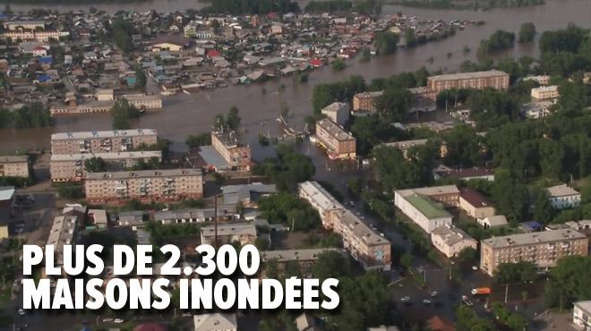 Inondations monstres en Russie: des milliers de maisons sous eau, des centaines de personnes déplacées