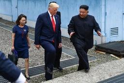 Tensions avec la Corée du Nord - Kim Jong Un raccompagné en Corée du Nord par Trump et le président sud-coréen