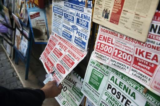 L'Italie affiche un chômage sous les 10%, une première en sept ans