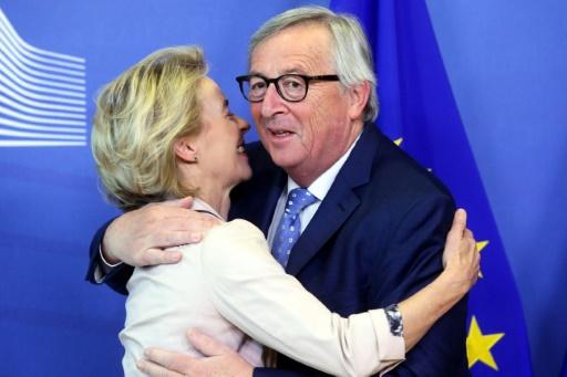 UE: 1ère rencontre entre Juncker et von der Leyen depuis le choix des 28