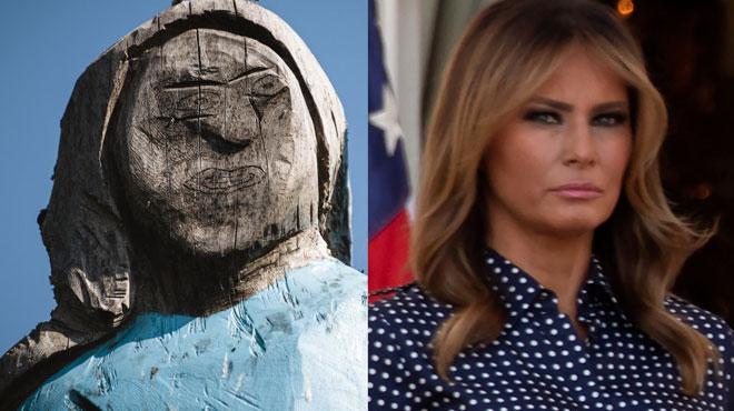 Melania Trump a désormais une étonnante statue à son effigie dans sa ville natale: