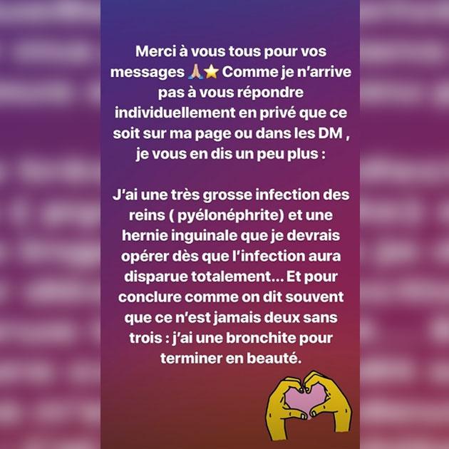 Jade Lagardère hospitalisée d'urgence en Belgique: elle donne de ses nouvelles