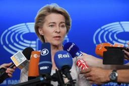 Michel reçoit la candidate à la présidence de la Commission UE, Ursula Von der Leyen