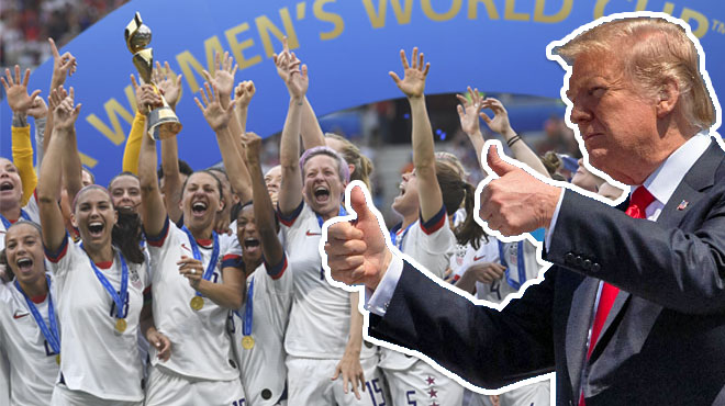 Malgré les critiques de plusieurs joueuses contre lui, Trump félicite la sélection américaine pour sa victoire au Mondial