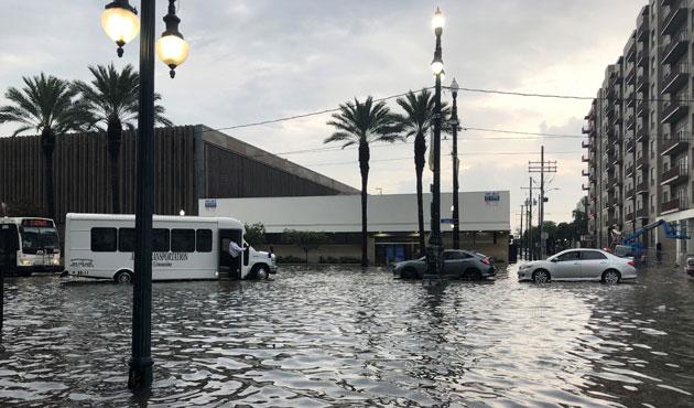 Inondations monstres à La Nouvelle Orléans, sous la menace de l'ouragan Barry