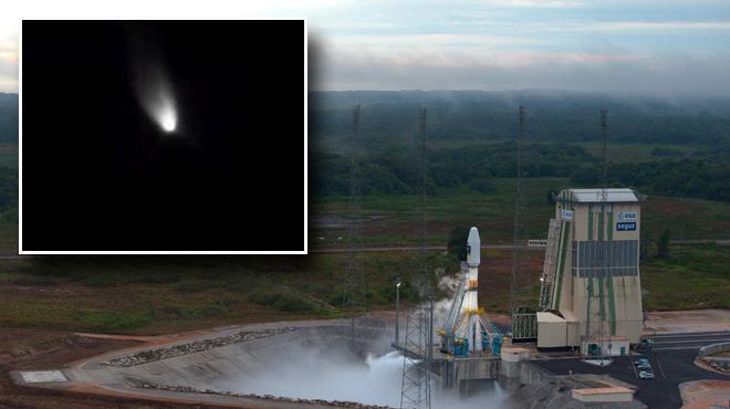 Deux minutes après son décollage, la trajectoire d'une fusée