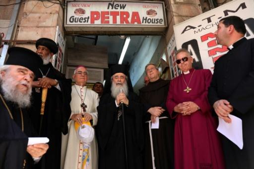 Jérusalem: des Eglises protestent contre l'acquisition de biens par des colons israéliens