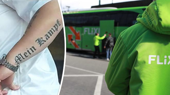 Flixbus exclut de ses lignes un chauffeur portant un tatouage nazi
