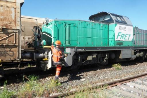 Le train de fret Perpignan-Rungis