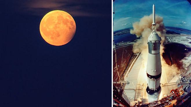 La Lune nous offrira une ÉCLIPSE partielle ce soir, pile le jour des 50 ans du décollage d'Apollo 11