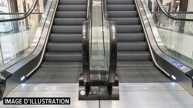 Intervention de pompiers ce matin à la gare du Nord: un enfant coincé dans un escalator