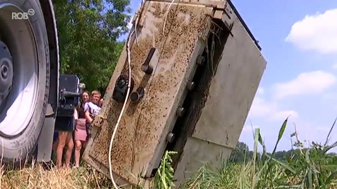 Deux enfants tombent sur le coffre-fort d'une agence Belfius en pêchant dans un petit cours d'eau...