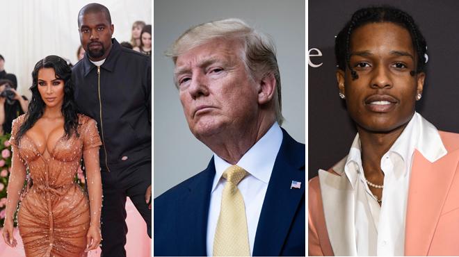 Kim Kardashian et Kanye West font appel à Trump pour faire libérer A$AP Rocky