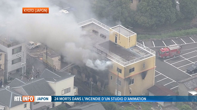 Incendie d'un studio d'animation au Japon: le bilan monte à 33 morts