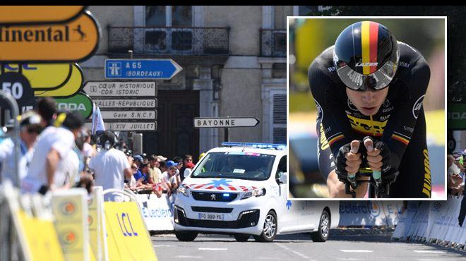 Tour de France - le Belge Wout van Aert abandonne après sa lourde chute 1