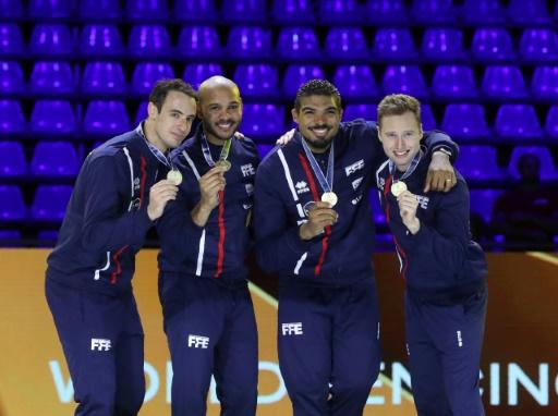 Escrime: les épéistes français sacrés champions du monde par équipes