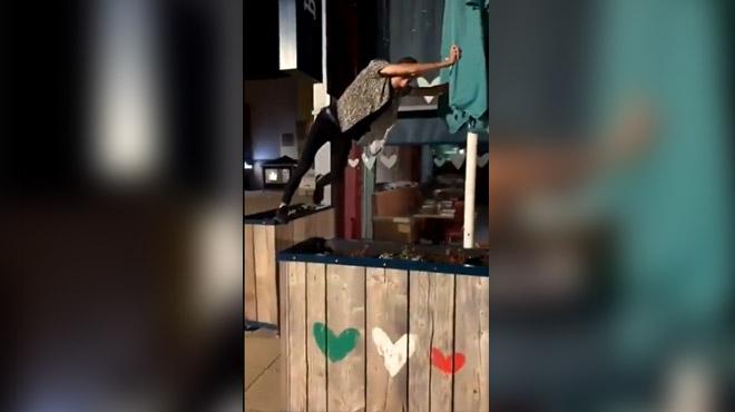 Il se prend pour un ninja mais l'a vite regretté (vidéo)
